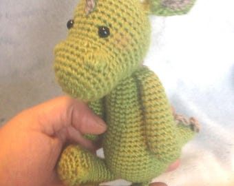 Baby green dragon crochet