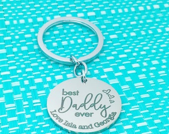 Best Dad Ever, Personalised Dad Gift, Dad Established, Personalised Keyring, Dad Keyring, Fathers Day Gift, Fathers Day Keychain, New Dad