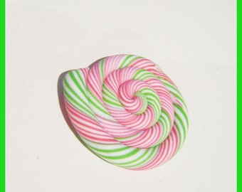 fimo polymer clay lollipop bead colorful charm jewelry