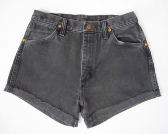 Reworked Vintage Wrangler Grey Denim Shorts