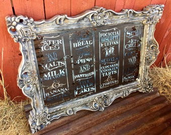 Bon French Country Wall Decor Ornate Reworked Large Hanging Wall Mirror  Magnolia Market Decor Antique Farmhouse Wall