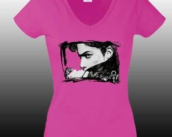 Prince art print, Prince shirt, Prince Tshirt, Pop art clothing, Prince, T shirt for Women,
