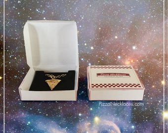 BFF Pizza Slice Friendship Necklaces - gold/silver