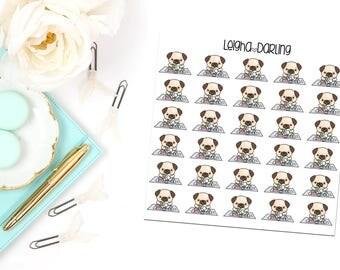 Dish Washing Pug Planner Stickers