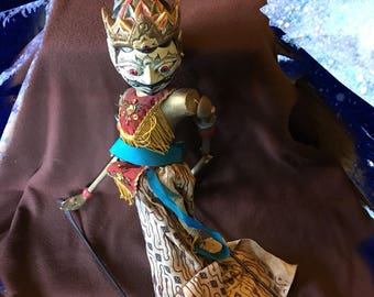 Vintage Indonesian Wooden Puppet