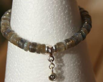 heishi grade A labradorite bracelet