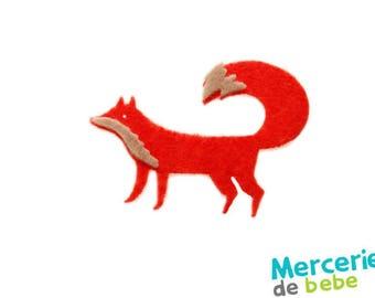 Little Fox-shaped felt - Dimensions: 6.5 cm x 6 cm - colour choice