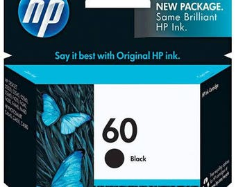 HP 60 Black Ink Cartridge - CC640WN#140