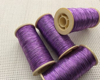 Italian purple wire coil type Skalli for embroidery