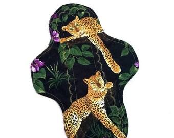 ON SALE Lavender Leopard Cloth Pad, custom cloth pad, reusable cloth pad