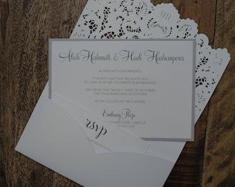 Laser Cut Wedding Invitation, Laser Cut Invitation, LaserCut Wedding Invitations, Pocket Laser Cut Invitation, LaserCut Invitations, Invites