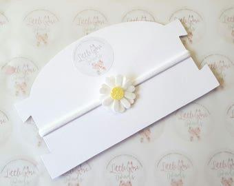 Baby Newborn White Daisy Headband - Christening- Christening Headband- Flower Girl - Wedding Hair - Flower Headband  - Baby Headband
