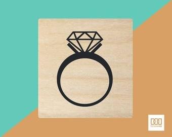Diamond Ring - 1.5cm Rubber Stamp (DODRS0183)