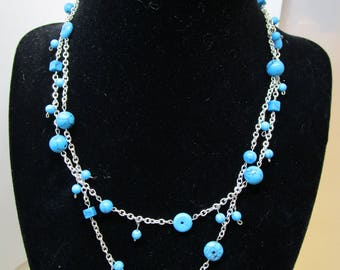 Turquoise Two Strand Necklace