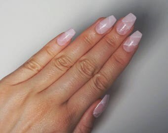 ROSE QUARTZ Luxury Press On Nails