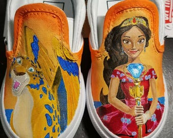 Princess Elena of Avalor custom shoes