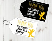Thank You Tags, Wild One Thank you Tags, Digital Download, First Birthday Thank You Tags, Printable Thank You, PDF