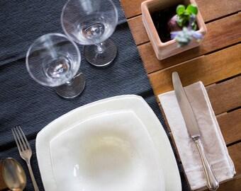 Ivory Murano Glass Plates Set