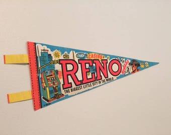 Vintage Reno, Nevada Pennant