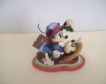 Enesco Disney Minnie and Mickey Figurine. Ceramic. Vintage
