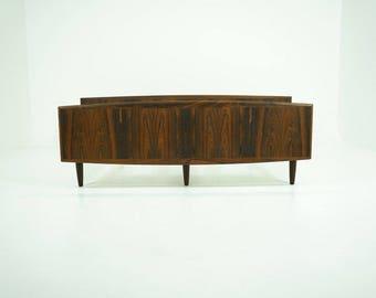 309-151 Danish Mid-Century Modern Rosewood Bed Frame European Queen Size
