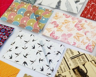 20 Mini Envelopes different motifs gift card hand made