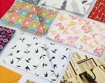 20 mini envelopes various motifs handmade gift card