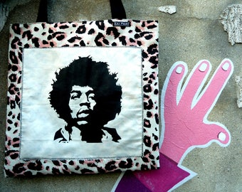 bag / tote bag with hand made stencil