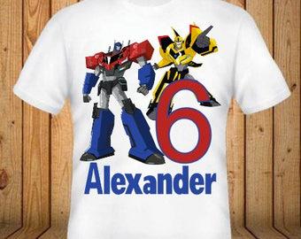 Transformers Birthday Shirt - kids Birthday Shirts - Personalized Shirts - Custom Shirts - Kids - Birthday Shirts-