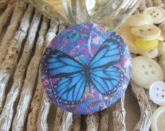 x 1 cabochon 28mm bouquet flowers 4 BOUT10 fabric