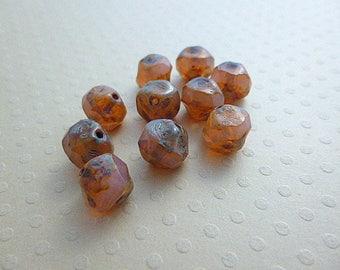 Set of 10 irregular Pink Opal 9mm round - CC9 0444