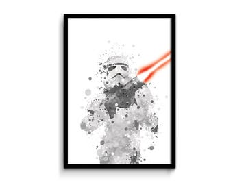 Star Wars poster, movie print star wars wall decor, gift idea illustration celebrating fathers day, birthday gift, child decor