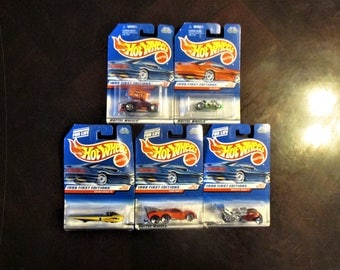 Lot of 5 Vintage Mattel Hot Wheels Unopened 1998 First Editions, Out of Production