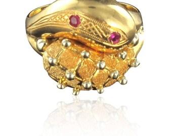 Bague en or rubis