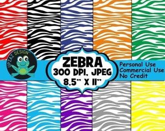 75% OFF SALE Zebra Print Digital Papers, Commercial Use, Background - UZ838