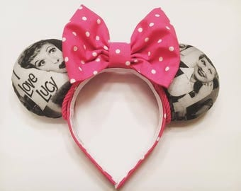 I Love Lucy, retro Minnie Mouse ears