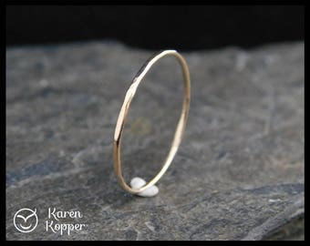 Super skinny ring, 14k Solid Gold ring, thin ring, made at your size. Skinny ring, stacking ring. Wedding band, engagement ring.