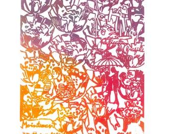 Gravure - Jouy-le-Châtel Floral