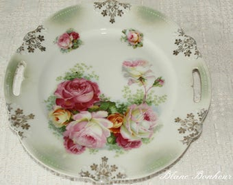 Bavaria: Plate with large roses