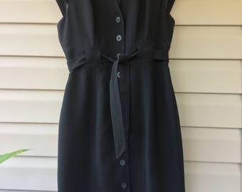Designer Vintage, Calvin Klein, Black Dress, Little Black Dress, Shift Dress, Sleevless Dress, Women's Clothing, Retro Dress,
