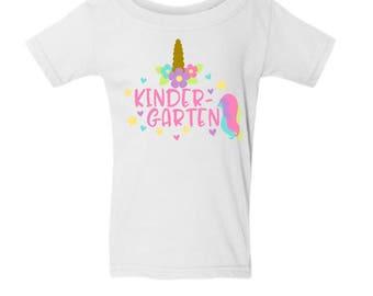 Kindergarten Shirt, Back to School Shirt, First Day of School Shirt, Pre School, First Grade, Second Grade, Third Grade, Fourth Grade Shirt