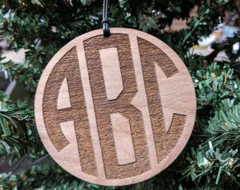 Personalized Monogrammed Christmas Ornaments Custom Gifts for Her