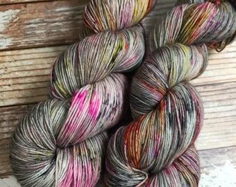 Isabel - Dark Magic  - Hand Dyed Yarn - 75/25 Superwash Merino/Nylon
