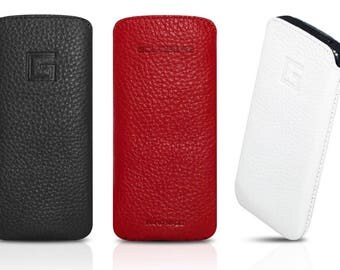 Apple iPhone SE / 5s / 5 cover leather case sleeve genuine leather cell phone case pouch leather case mobile sock black red white