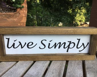 Live Simply,shiplap sign,gallery wall sign,subway art,farmhouse wood sign,wood sign,guest room sign,farmhouse decor