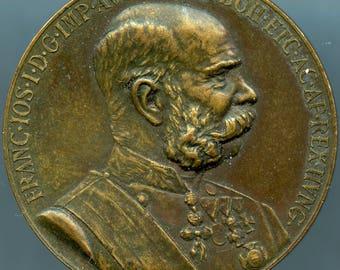 "Austrian Commemorative Medal 1898 ""SIGNVM MEMORIAE"" Emperor Franz Joseph Of Austria"