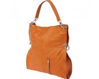 Italian handmade Soft leather Hobo shoulder bag in Tan 3019