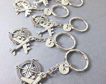 SET OF 5 Personalized Distance Keychain - set of 5, bff charm, 5 bff keychain, set of 5 best friend,always keychain, friends forever