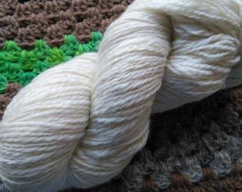 Handspun alpaca and Merino yarn.