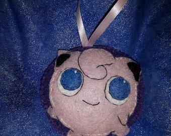 Jigglypuff- Pokèmon inspired felt ornament